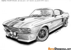 FORD MUSTANG SHELBY G.T. 500 ELEANOR 1967