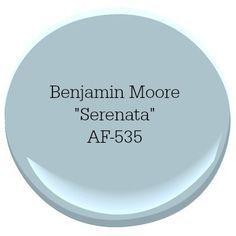 Benjamin Moore Serenata Coastal Paint Color