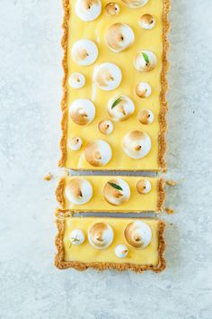 Easy and fresh Lemon Meringue Tart. Inspired by French classic Tarte au Citron. This tart is everything and more. For the base we used our flaky, buttery and super delicious tart dough. The lemon curd filling is incredibly rich in flavor and it's raw, it's not baked. We love it because it's super creamy and not too sweet at all. For the decoration we used Italian meringue, which adds such a lovely balance, both in flavor (with a bit of sweetness) and in texture (the dessert become...
