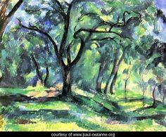 Small forest - Paul Cezanne - www.paul-cezanne.org