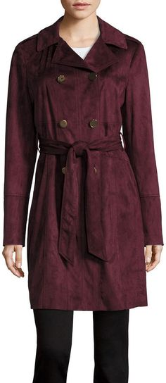 A.N.A Belted Faux-Suede Trench Jacket - JCPenney - The Shop Gal