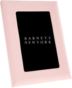 Barneys New York Pebbled Leather Picture Frame at Barneys New York