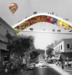 ARCHISEARCH.GR - POSTGRADUATE ARCHITECTURE STUDENTS IN UNIVERSITY OF THESSALY IMAGINE EVRIPIDOU STREET IN ATHENS AS MEGAFORM