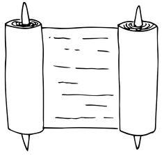 rotolo di pergamena (disegno di: LIM - Laboratorio Interattivo Manuale e Archeoplanet)