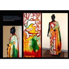 Bankura bishonpur silk hand painted saree with painting for Asha mural painting