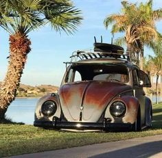 Custom VANS natural BABES & other bad ass transportation. Volkswagen Beetle Vintage, Volkswagen Bus, Old Bug, Vw Classic, Best Muscle Cars, Vw Cars, Vw Camper, Vw Beetles, Custom Cars