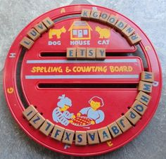 Vintage 1950's American Toys Spelling & Counting.  Forgot all about these!