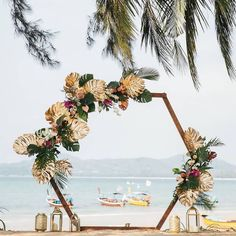21 Fuss-Free & Creative Mandap Backdrops For Your Home Wedding Beach Wedding Colors, Boho Beach Wedding, Beach Wedding Photos, Wedding Ceremony Decorations, Home Wedding, Wedding Events, Wedding Ideas, Weddings, Phuket Wedding