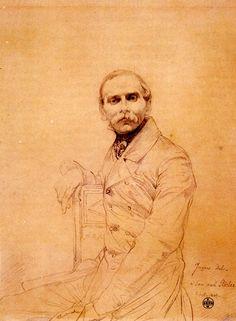 Jean Auguste Dominique Ingres franz: adolf-von-stuerler [portrait], Medium: conte on paper?