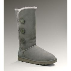 UGGS Clearance 1873 Grey Bailey Button Triple Boots will accompany you with amazing ease and comfort. UGG Bailey Button Triplet boots are one of imports of sheep wool fabric in Australia. It will defend your feet from getting harm through the frigid climate using the warming materials.The UGG Bailey Button are a calf-height hit organised from real twin-face sheepskin.Each individual's preference can be satisfied with the various colors and sizes of UGG Bailey Button Triplet Boots.