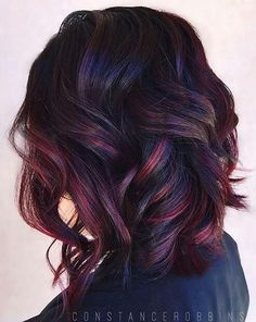 Like this hair color style maybe a darker purple