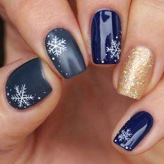 Nails 52 winter nail colors and designs, mismatched nail colors, mismatched nail designs, winter nail designs Winter Nail Art, Winter Nail Designs, Christmas Nail Designs, Christmas Nail Art, Winter Nails, Nail Art Designs, Nails Design, Winter Christmas, Simple Christmas Nails