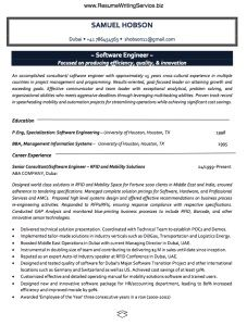 software engineer resume software engineer resume we