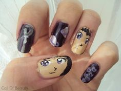 Sailor Saturn inspired Nail Art by http://www.cob-callofbeauty.com/2013/05/sailor-saturn.html #SailorSaturn #Nailart #SailorMoon