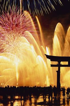 Shogatsu New Year's Fireworks in Japan|正月の花火