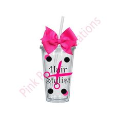 Hair Sylist Gift, Hair Stylist Tumbler, Hair Dresser Gift, Personalized Tumbler, Tumbler Cup by PinkPoodleCreations on Etsy https://www.etsy.com/listing/228774696/hair-sylist-gift-hair-stylist-tumbler