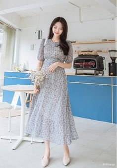 dress Korean beautiful - Korean Fashion Style 2019 Trends Source by ksushaesaulova outfit muslim Casual Day Dresses, Modest Outfits, Classy Outfits, Modest Fashion, Elegant Dresses, Nice Dresses, Fashion Outfits, Dresses Dresses, Fashion Fashion