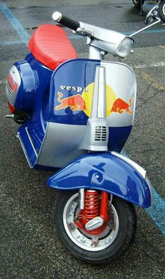 Great team, Red Bull and Vespa.