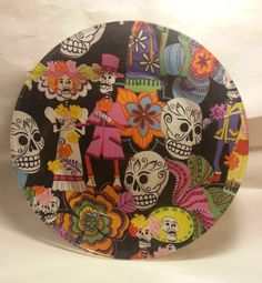Day Of The Dead Glass Decoupage Plate by funkyframesandcrafts, $9.00