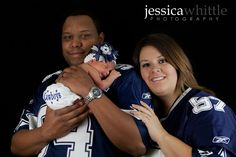 Cowboys fans / newborn session. Jessica Whittle Photography