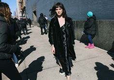How to wear Silk in the XXI Century? Have a look @ Hari Nef in Calvin Klein Collection 2016 #silkisback #silkinthecity
