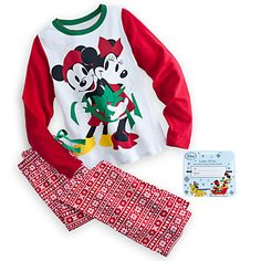 Disney Mickey and Minnie Mouse Holiday Pajama Set for Women Cotton Sleepwear, Sleepwear Women, Pajamas Women, Disney Pajamas, Holiday Pajamas, Pretty Lingerie, Disney Merchandise, Pj Sets, Pajama Set