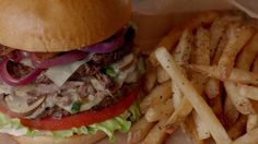 Burger and fries as seen in TGI Fridays commercial!  http://enjoythebits.com/post/79549589017/burgers-and-fries-as-seen-in-tgi-fridays-10#.UyeHC61dWMg