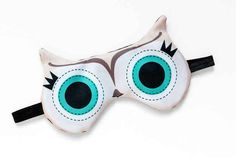 An owl eye mask to help you get some quality shuteye.