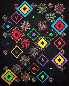 T-Blacks & Brights | by Linda Rotz Miller Quilts & Quilt Tops