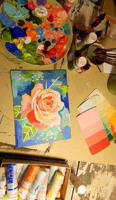 Rose Artwork by Katie Daisy (www.KatieDaisy.com)