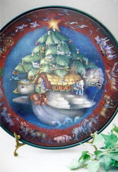 Michele Walton: Noah's Ark plate, adore her art, decorative painting