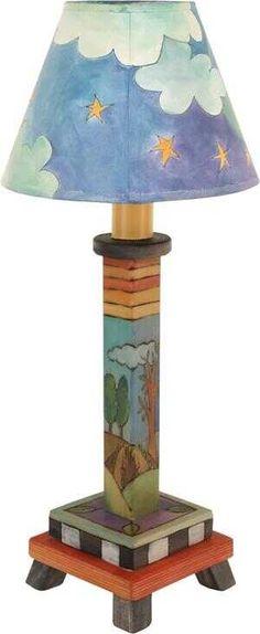 Milled Candlestick Lamp S38396 | Sticks Handmade Candlestick Lamps, Candlesticks, Sticks Furniture, Magnetic Calendar, Paper Towel Holder, Hot Pads, Online Gifts, Handmade Art, Art Pieces