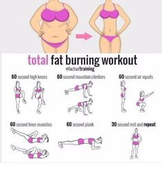 total fat burning workout #fat #fit #fitness #sport #motivation #girl #woman