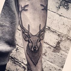 Stag tattoo by Alex Bawn.