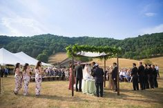 A magical, lush outdoor Jewish wedding in North Carolina | Smashing the Glass Jewish wedding blog | tons of creative and unique ideas like a Scrabble-based seating chart and more