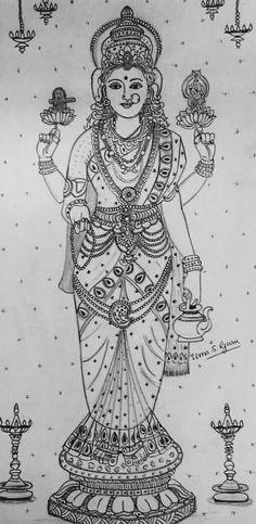 Outline Drawings, Pencil Art Drawings, Cartoon Drawings, Art Sketches, Kalamkari Painting, Tanjore Painting, Tattoo Coloring Book, Art Diary, Ganesha Art