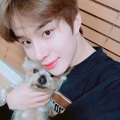 """""""jungwoo's dog is named obok! he's mentioned his dog a few times and said it's a Yorkshire terrier 🥰 CUTEEEE"""" Winwin, Taeyong, Jaehyun, Nct 127, Kpop, Kim Jung Woo, Fandoms, Entertainment, Boyfriend Material"""