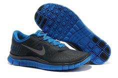 Fake Mens Nike Free 4.0 V2 Dark Obsidian Reflect Silver Soar Blue Shoes