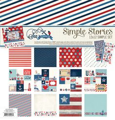 Simple Stories   Sea to Shining Sea   12x12 Simple Set