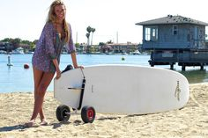 Get your board to the beach with ease with the COR Paddleboard SUP cart #SUP