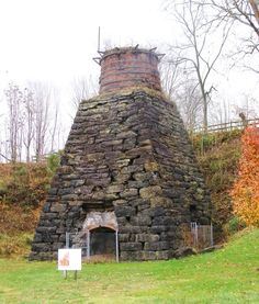 The iron furnace at Foster Falls, VA was constructed in 1881 by the Foster Falls Mining and Manufacturing Company and enlarged and improved in 1906.