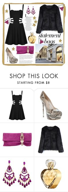 """Chandra"" by elyherrera ❤ liked on Polyvore featuring Rare London, Casadei, Jimmy Choo, Chicwish, Lipsy and Elizabeth Arden"
