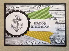 Handmade Male Birthday Card | Stampin Up | Anchor