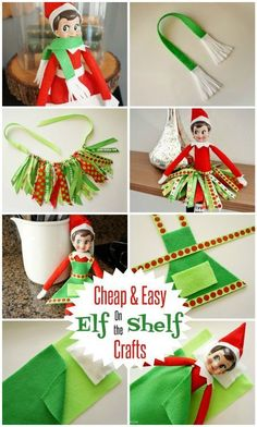 Cheap and Easy No Sew Elf on the Shelf Crafts with Tutorials