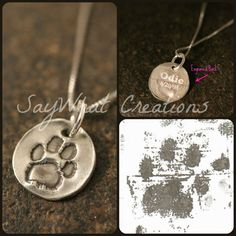 Hey, I found this really awesome Etsy listing at https://www.etsy.com/listing/125305840/dog-or-cat-paw-necklace-made-from-your