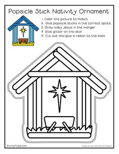 Free printable Popsicle Stick Nativity Craft for Christmas! This DIY Nativity Ornament is just right for students of all ages. Christmas Bible, Christmas Nativity, A Christmas Story, Kids Christmas, Christmas Crafts, Christmas Carnival, Italian Christmas, Christmas Ornament, The Nativity Story