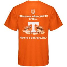 Vol For Life Student T-Shirt - Tennessee Orange