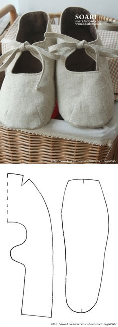 SLIPPERS FROM FABRIC.