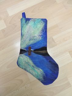 Needle felted Christmas stocking of local Juneau 1c492d498a