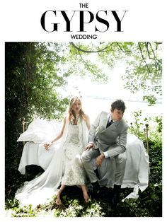On the day of her 2011 wedding to the Kills' Jamie Hince, Kate Moss wore John Galliano; in this photo, taken for Vogue by Mario Testino, she wears Chanel. Gypsy Wedding, Chic Wedding, Wedding Bells, Wedding Bride, Wedding Styles, Dream Wedding, Wedding Dresses, Forest Wedding, Woodland Wedding